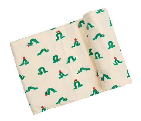 Angel Dear Bamboo Swaddle Blanket - Inchworm