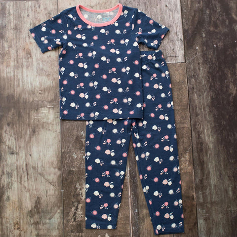 Bestaroo Short Sleeve PJ Set - Navy Spring Bloom - Let Them Be Little, A Baby & Children's Boutique