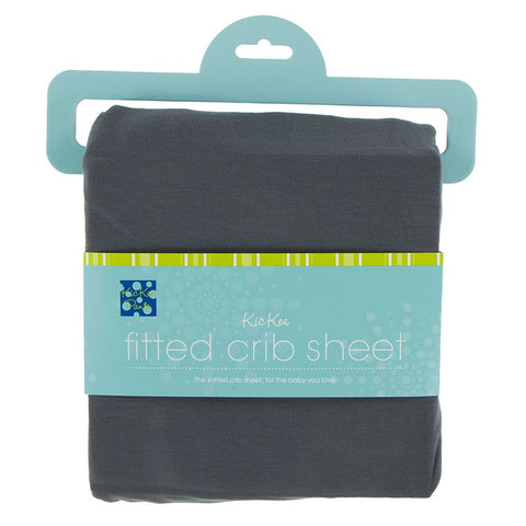Kickee Pants Solid Fitted Crib Sheet - Stone