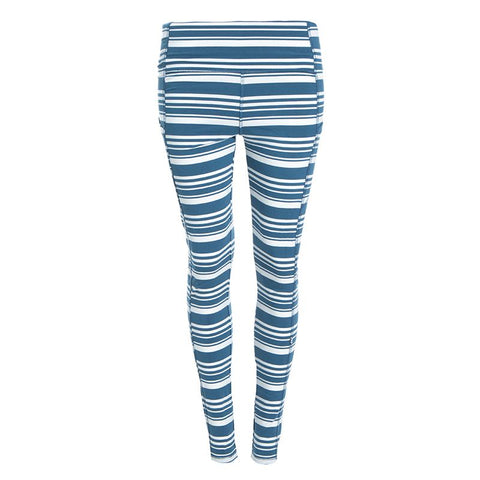 Kickee Pants Printed Luxe Leggings with Pockets - Fishing Stripe