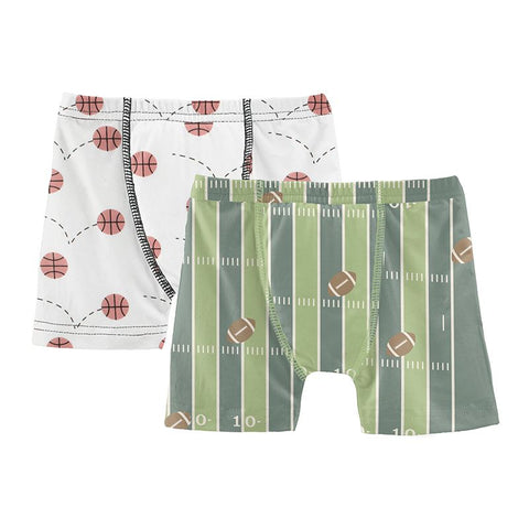 Kickee Pants Boxer Briefs Set - Football & Natural Basketball - Let Them Be Little, A Baby & Children's Clothing Boutique