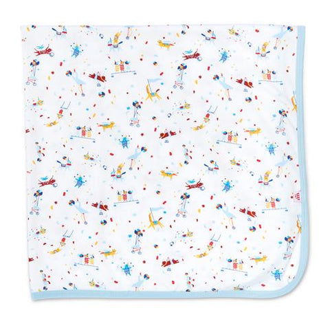 Magnetic Me Modal Swaddle - Blue Carnivale