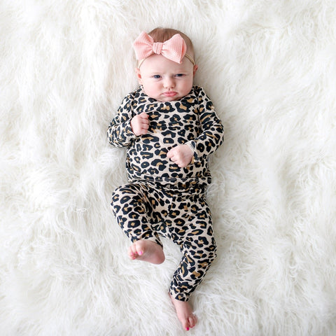 Posh Peanut 2 Piece PJ Set - Lana Leopard - Let Them Be Little, A Baby & Children's Boutique