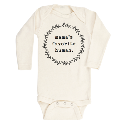 Tenth & Pine Long Sleeve Onesie - Mama's Favorite Human