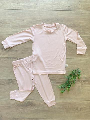 Kozi & Co Essentials Long Sleeve PJ Set - Peony Pink