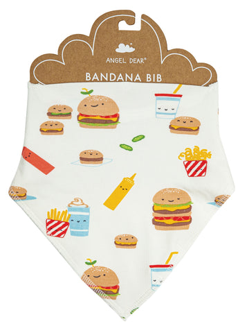 Angel Dear Bamboo Bandana Bib - Burger Joint