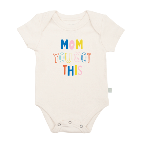 Finn + Emma Graphic Onesie - Mom You Got This
