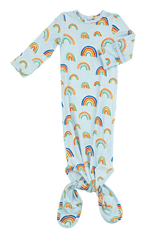 Angel Dear Knotted Gown - Rainbows Blue