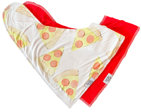 Birdie Bean Bib Set - Pizza Party