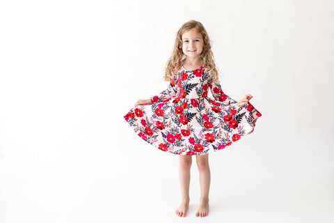 Posh Peanut Long Sleeve Twirl Dress - Chloe - Let Them Be Little, A Baby & Children's Boutique