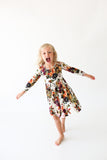 Posh Peanut Long Sleeve Henley Twirl Dress - Corinne - Let Them Be Little, A Baby & Children's Boutique