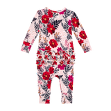 Posh Peanut Long Sleeve Ruffled Romper - Chloe - Let Them Be Little, A Baby & Children's Boutique