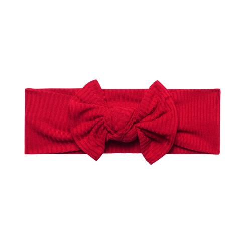 Posh Peanut Headwrap - Crimson Ribbed
