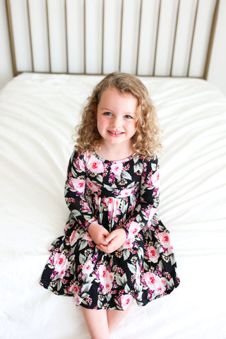 Posh Peanut Long Sleeve Twirl Dress - Milana - Let Them Be Little, A Baby & Children's Boutique