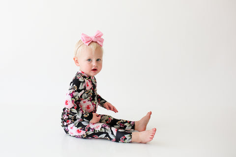 Posh Peanut Long Sleeve Ruffled Romper - Milana - Let Them Be Little, A Baby & Children's Boutique