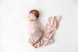 Posh Peanut Infant Swaddle Set - Sweet Pink Ribbed