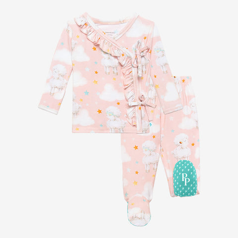 Posh Peanut Ruffled Front Kimono Set - Mary - Let Them Be Little, A Baby & Children's Clothing Boutique