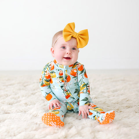 Posh Peanut Ruffled Zipper Footie - Mirabella - Let Them Be Little, A Baby & Children's Boutique