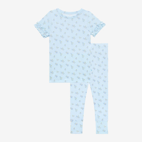 Posh Peanut Ruffled Short Sleeve Pajamas - Grace - Let Them Be Little, A Baby & Children's Clothing Boutique