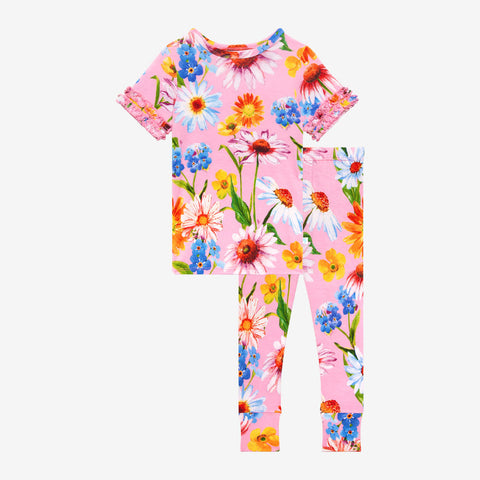 Posh Peanut Ruffled Short Sleeve Pajamas - Kaileigh - Let Them Be Little, A Baby & Children's Clothing Boutique