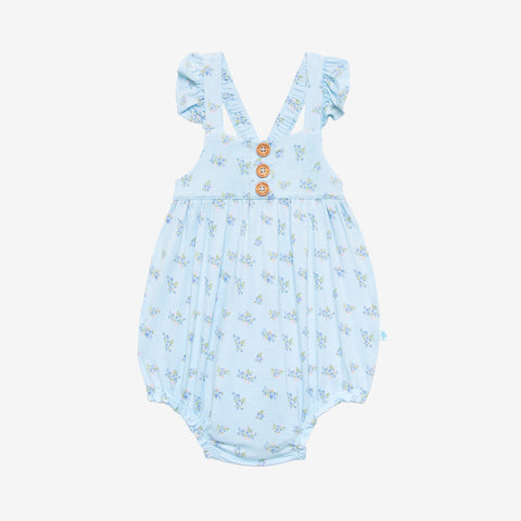 Posh Peanut Ruffled Cap Sleeve Henley Bubble Romper - Grace - Let Them Be Little, A Baby & Children's Clothing Boutique