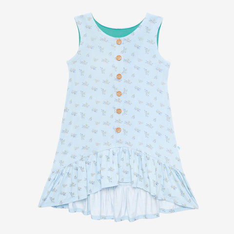 Posh Peanut Henley Ruffled Cap Sleeve Hi Low Dress - Grace - Let Them Be Little, A Baby & Children's Clothing Boutique
