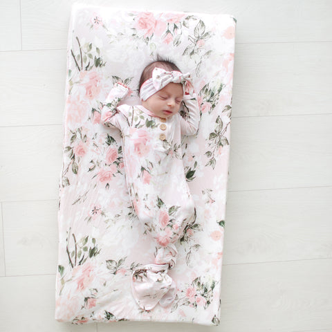 Posh Peanut Changing Pad Cover - Vintage Pink Rose - Let Them Be Little, A Baby & Children's Boutique