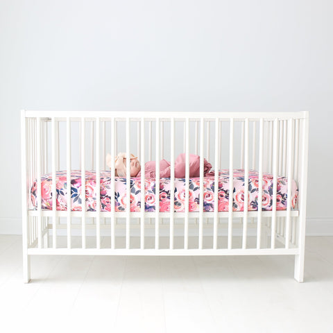 Posh Peanut Crib Sheet - Dusk Rose
