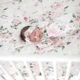 Posh Peanut Crib Sheet - Vintage Pink Rose