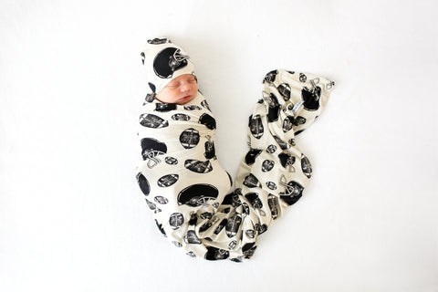 Posh Peanut Infant Swaddle & Beanie Set - Touchdown - Let Them Be Little, A Baby & Children's Boutique