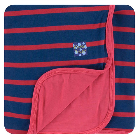 Kickee Pants Printed Stroller Blanket - Everyday Heroes Navy Stripe