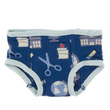 Kickee Pants Training Pants Set - Everyday Heroes Multi Stripe & Navy Education