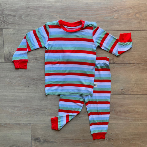 Kozi & Co Long Sleeve PJ Set - Holly Stripe