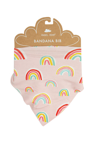 Angel Dear Bamboo Bandana Bib - Rainbows Pink