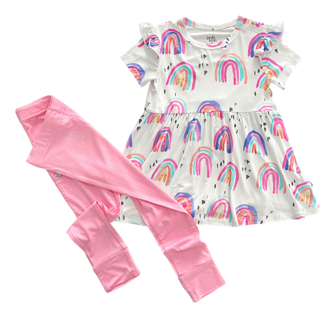 Birdie Bean Short Sleeve Peplum Set - Raegyn - Let Them Be Little, A Baby & Children's Clothing Boutique