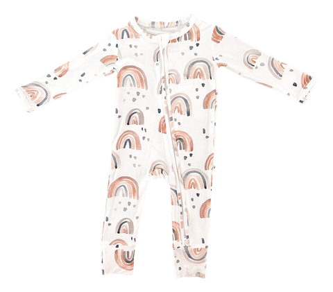 Birdie Bean Zip Romper w/ Convertible Foot - Reign - Let Them Be Little, A Baby & Children's Clothing Boutique