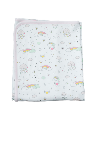 Baby Noomie Double Layer Blanket - Rainbows