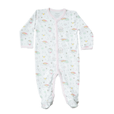 Baby Noomie Snap Footie - Rainbows - Let Them Be Little, A Baby & Children's Boutique
