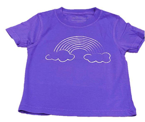 Mustard & Ketchup Kids Short Sleeve Tee - Purple Rainbow