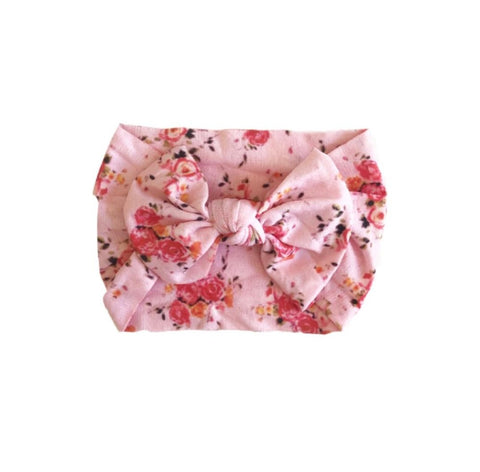 Poppy Knots Floral Classic Bow - Rose