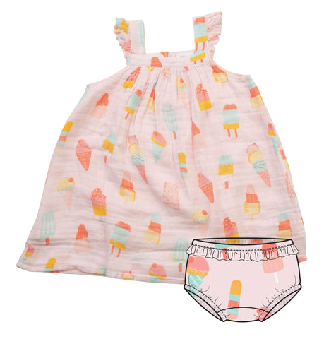 Angel Dear Muslin Sundress - Cool Sweets - Let Them Be Little, A Baby & Children's Boutique