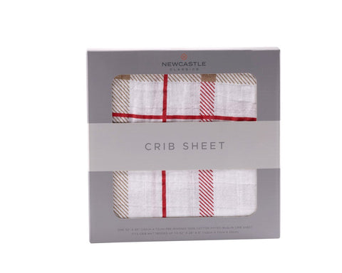 Newcastle Classics Muslin Crib Sheet - Plaid