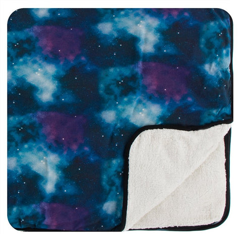 Kickee Pants Print Sherpa-Lined Toddler Blanket - Wine Grapes Galaxy - Let Them Be Little, A Baby & Children's Boutique