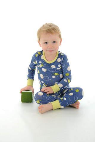 Silkberry Baby Bamboo Pajama Set - Blue Galaxy Space