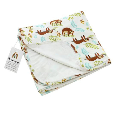 Emerson & Friends Luxury Bamboo Blanket - Sloth