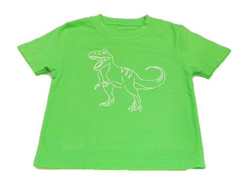 Mustard & Ketchup Kids Short Sleeve Tee - Light Green T-Rex