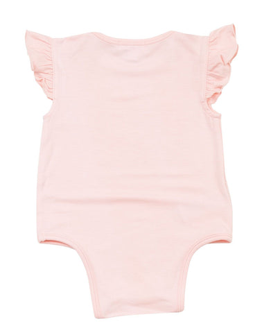 Angel Dear Ruffle Sleeve Onesie - Pink