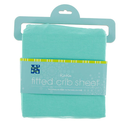 Kickee Pants Solid Fitted Crib Sheet - Glass