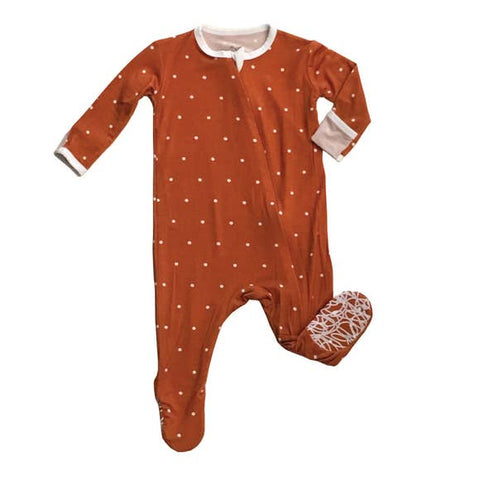 Peregrine Signature Footed Sleeper - Vintage Polkadot - Let Them Be Little, A Baby & Children's Boutique