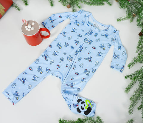 Bellabu Bear Convertible Footie - Winter Wonderland
